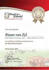 Riaan Client Services Cert