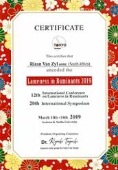 Riaan van Zyl Lameness in Ruminants Cert